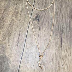 LC Lauren Conrad Rose Gold Layered Necklace